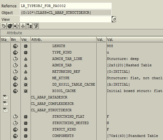 ABAP SAP The PA0002 data structure type object